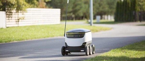 Беспилотный прототип Starship робот доставки продукции из магазинов