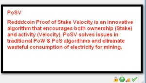 Reddcoin Proof of Stake Velocity POW, POS, POSW