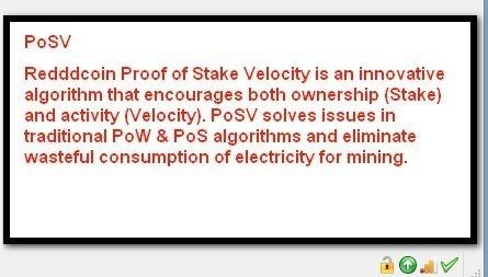 Reddcoin Proof of Stake Velocity POW, POS, POSW